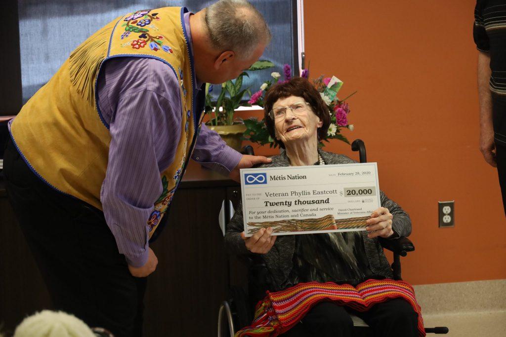 Métis Nation Honours WWII Métis Veteran Phyllis Eascott