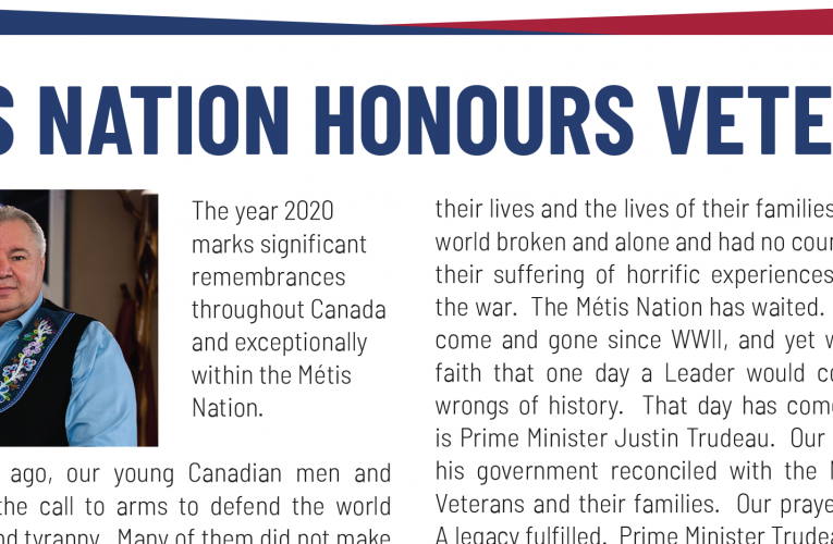 Métis Veterans ad for Legion Magazine